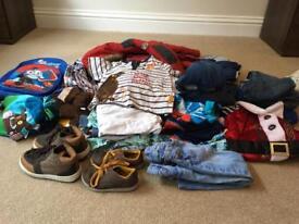Bag of boys clothes