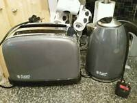 Russell Hobbs graphite Grey Kettle And Toaster