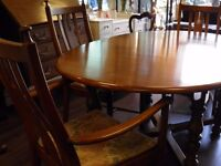 Stunning Vintage Ercol 'Golden Dawn' Extendable Dining Table & Four Chairs - WE CAN DELIVER