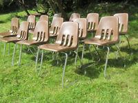 13 stackable, children's school chairs