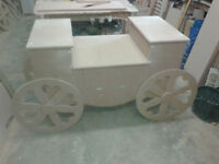 carriage style sweet candy cart - weddings - partys or use as display stand