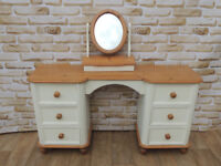 Welsh pine white dresser with mirror (Delivery)
