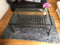 BLUE & GREY RUG IN GOOD CONDITION