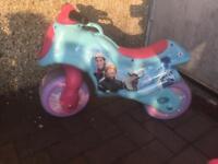 Kids frozen toy walking motor