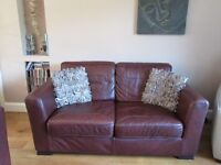 2 Vintage Classic Italian Leather Sofas in Dark Brown - Very Good Condition