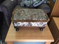 Very small foot stool ideal shabby chic project