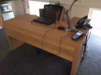 Oak Effect Office Desk for Sale