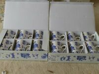 boxed set of 6 china mugs