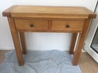 Solid oak sideboard with drawers