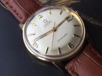 Stunning Vintage 1963 solid 18k 18ct gold Automatic OMEGA Seamaster mens Swiss watch REDUCED
