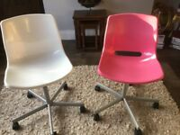 Ikea Snille Swivel Desk Chairs. Pink