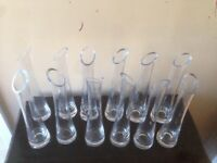 12 Bud vases wedding/party