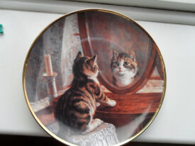 PICTURE PERFECT DECORATED CAT PLATE