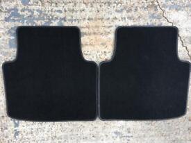 Rear floor car mats