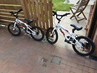 Two kids bmx bikes in fine working order