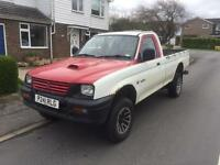 1997 Mitsubishi L200 4x4 Single Cab White