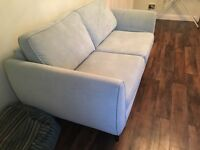 Three seater sofa and chair excellent condition