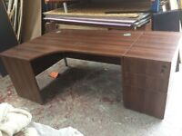 MAHOGONY desk and drawers