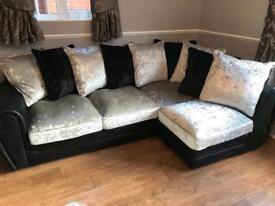 Crushed Velvet Corner Suite £425.00