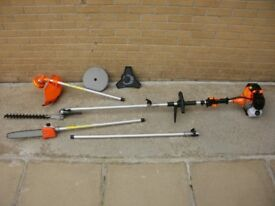 52cc Brand new 6in1 Garden Multi-tools, strimmer & brush cutter / hedge trimmer / chainsaw