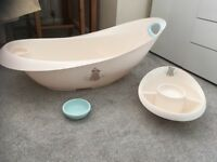 Baby bath with wash dishes