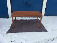Patio Rectangular Table 150cm Large Wooden Garden Outdoor Yard Furniture