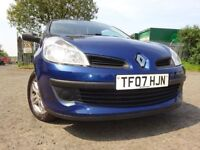 07 RENAULT CLIO 1.2,MOT MAY 019,2 OWNERS FROM NEW,ONLY COVERED 52,000 MILES,VERY RELIABLE SMALL CAR