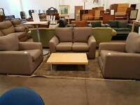 Next grey fabric 2 seater with 2 armchairs