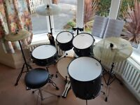 MAPEX STORM Drum Kit w/ ALL HARDWARE + ZILDJIAN L80 CYMBALS, REMO SILENTSTROKE HEADS