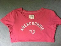 Pink Abercrombie & Fitch Tshirt, size L