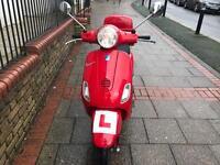 Piaggio Vespa Lx 50 cc dragon red 2006 hpi clear!!