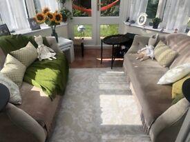2 sofas 170 cm each