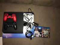 500gb PS4, FIFA 18, GTA, 2 controllers
