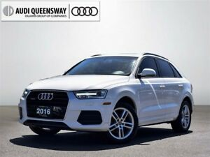 2016 Audi Q3 2.0T Komfort, One Owner, Certified