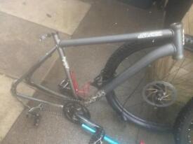 Bike parts and voodoo frame