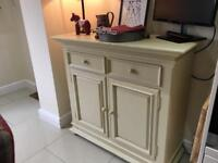 """""""Luv It"""" """" Solid Cream Wooden Sideboard !! with 2 x drawers & 2 cupboard doors"""