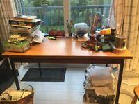 Wood veneer office desk/ work table