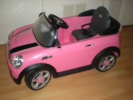 Childs Mini Cooper S Car