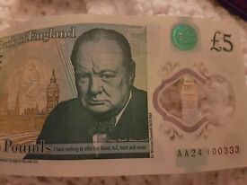 AA24 FIVE POUND NOTE