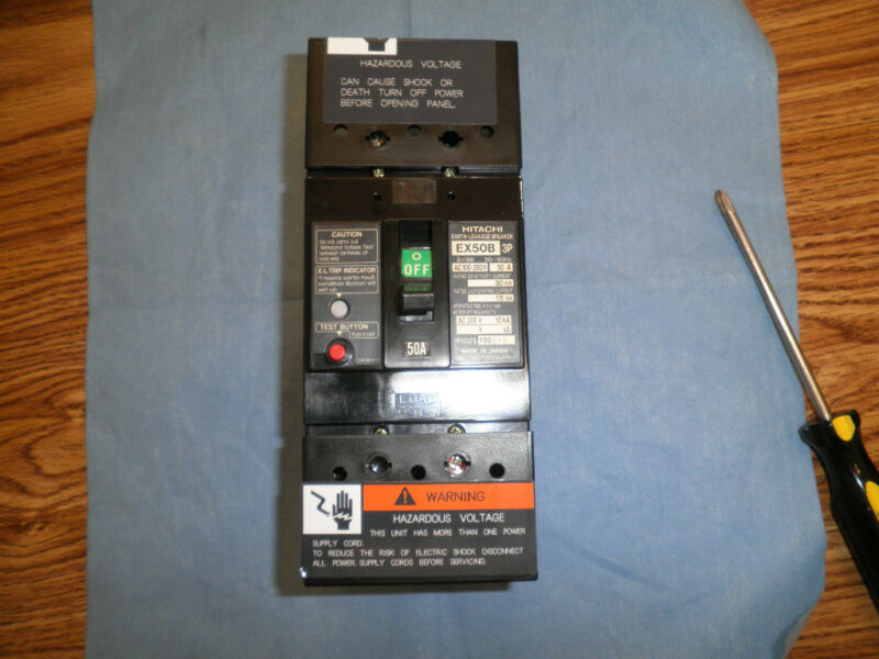 Hitachi Earth-Leakage Circuit Breaker, Model: EX50B<