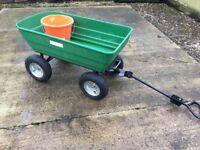 XXL Four Wheel Cart Barrow can be towed like a garden trailer