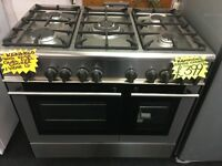 KENWOOD 90CM DUAL FUEL RANGE STYLE COOKER IN STAINLESS STEEl