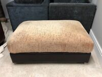 CAN DELIVER - LARGE BROWN FOOT STOOL