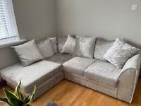 Relatively New Crushed Velvet Sofa