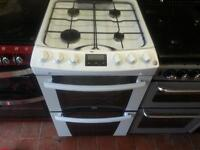 zannusi gas cooker55cm white double oven