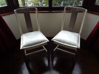 Chairs x2 for occasional/bedroom (Pair)