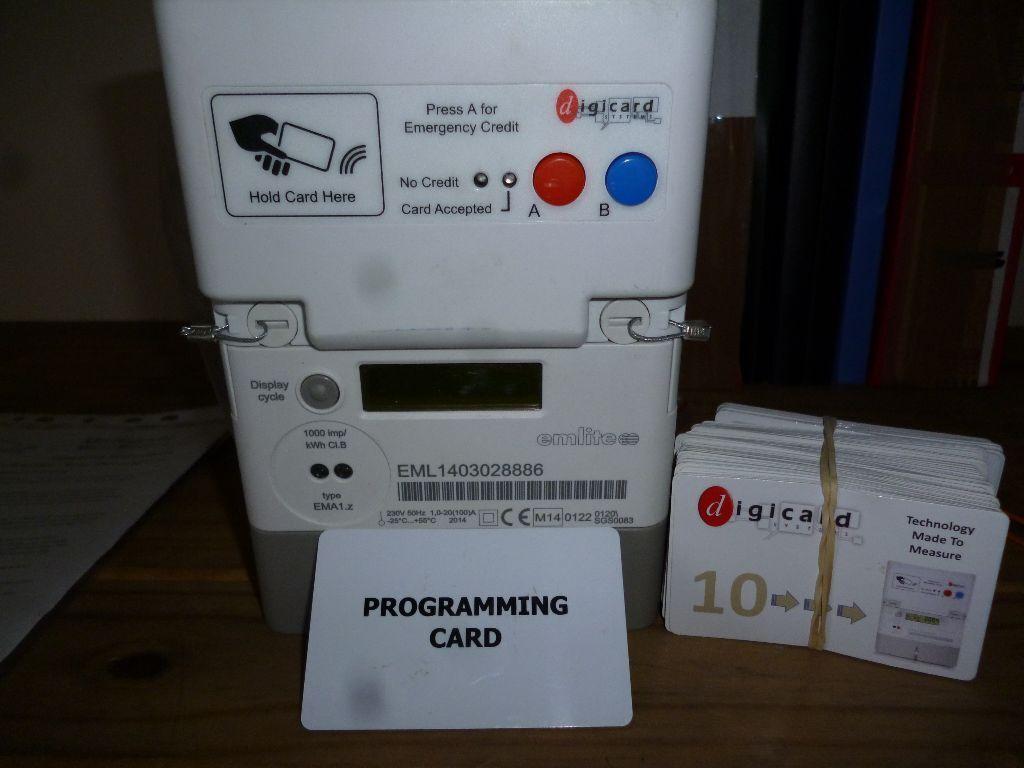Landlord Prepayment Card Electric Meter Digicard In