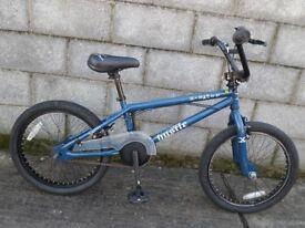 blue bike bmx 20''hustle