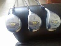 3 x Macgregor golf clubs