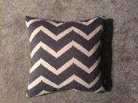 Barker and stonehouse grey and white print chevron cushion brand new